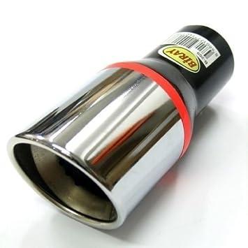 Boloromo 269 Universal - Embellecedor de tubo de escape universal, doble tubo, de acero inoxidable, diámetro de 33 - 48mm, cromado: Amazon.es: Coche y moto