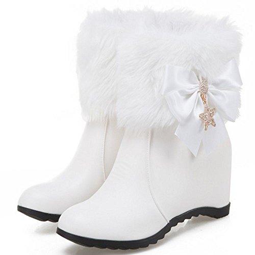 White Fashion CarziCuzin Women Boots Zipper wIXX5q