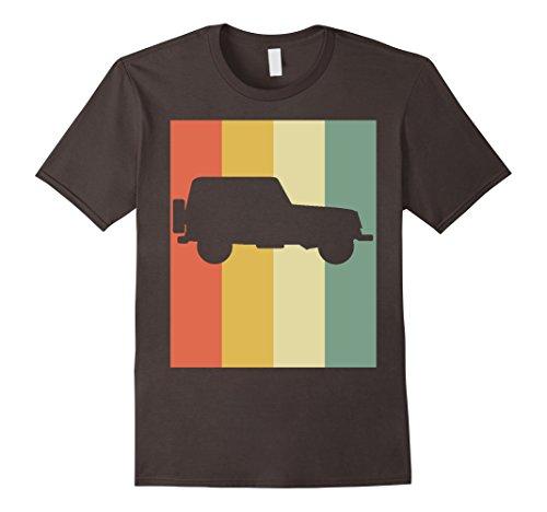 Mens Vintage Off Road 4x4 T-Shirt For Jeep Drivers Medium Asphalt