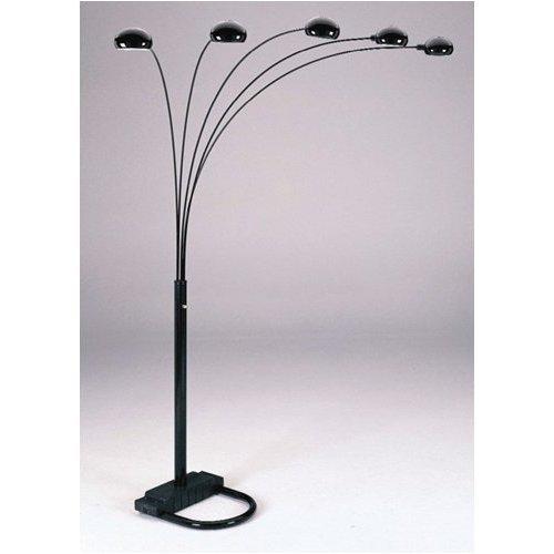 Acme Furniture Black Five Arm Arc Floor Lamp