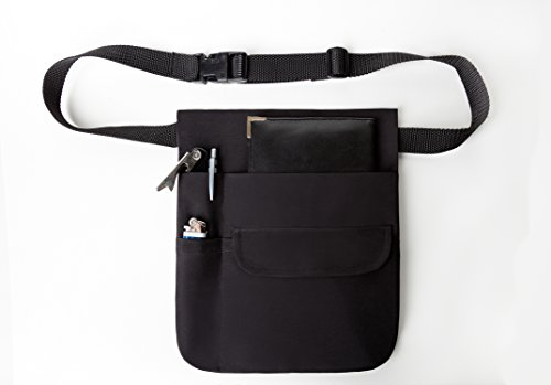 Used, Black Money Pouch Restaurant Apron with Adjustable for sale  Delivered anywhere in USA
