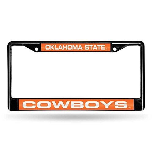 Rico Industries Oklahoma State Cowboys NCAA schwarz Chrome Laser Cut License Plate Frame by Rico