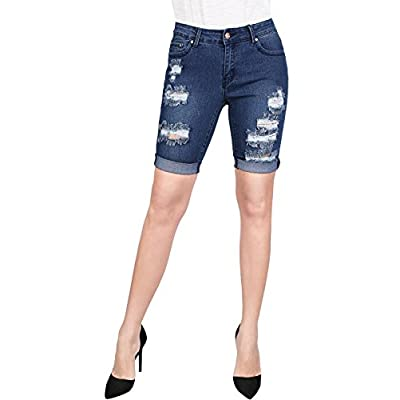 2LUV Women's Stretchy 5 Pocket Skinny Bermuda Jeans for sale
