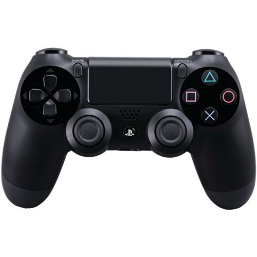 DualShock 4 Wireless Controller for PlayStation 4 - Jet Black (Renewed) ()