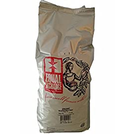 Equal Exchange USDA Organic Breakfast Blend Whole Bean Coffee- 5 Lb Bag 15 Aroma: honey, floral, toffee Flavor: balanced, sweet, baked brownie Mouth feel: dense and expansive Acidity: gentle and refined Aftertaste: sweet, roasted