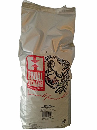 Equal Exchange USDA Organic Breakfast Blend Whole Bean Coffee- 5 Lb Bag 1 This classic blend is sweet and balanced with a creamy mouthfeel and hints of chocolate brownie, roasted nut and caramel. Whole Bean only.