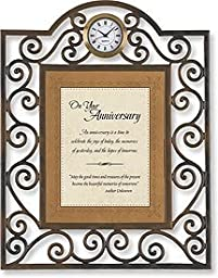 On Your Anniversary Table Clock Framed Table Clock General Verses Paper