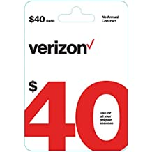 $40 Verizon Wireless Prepaid Refill Top up PIN Card (Mail Delivery)