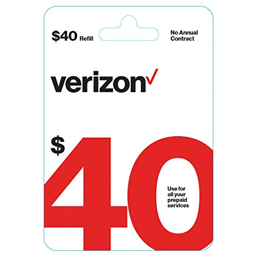 $40 Verizon Wireless Prepaid Refill Top up PIN Card (Mail Delivery) by Verizon (Image #1)