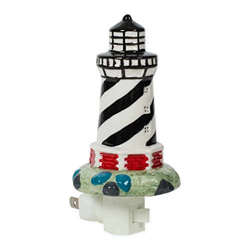 Lighthouse 3 x 6 Porcelain Electric Wall Swivel Plug-In Night Light