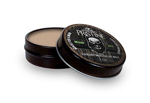 Beard Gains Brown Tinted Organic Mustache Bees Wax, Pristine Original Cologne Scent (1oz Medium Hold)