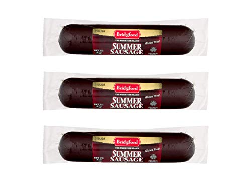 Bridgford Meat Sticks, Gluten Free, Made in the USA, Pack of 3 (Summer Sausage) ()