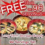 Free 6 Packs! 90 Servings Long Term Storage Food Supply Set (3 Types X 30 Servings) Freeze Dried Foods