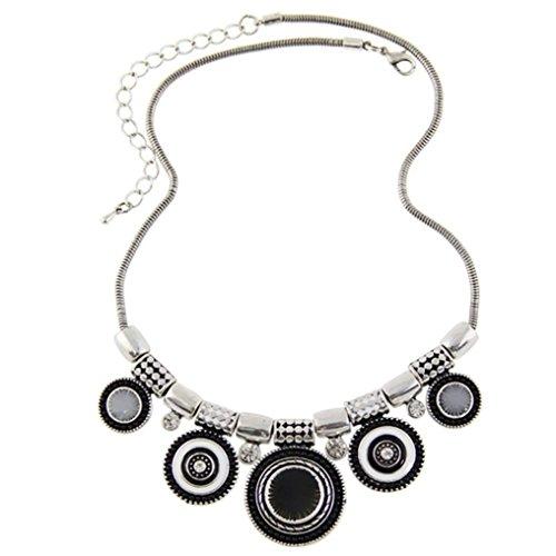 Collar-Mujer-ZARU-1PC-Mujeres-Gargantilla-Estilo-tnico-de-la-vendimia-plateada-Collar-llamativo-colgante