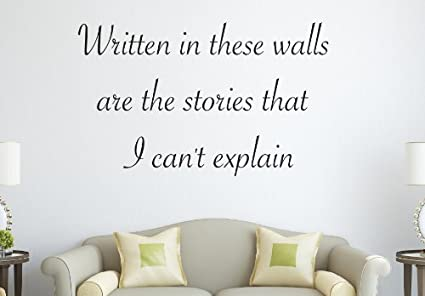 One Direction 1D The Story Of My Life Lyrics Written In These Walls.