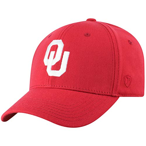 Top of the World Oklahoma Sooners Men's Memory Fit Hat Icon, Cardinal, One Fit