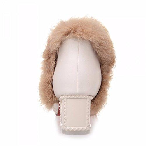 Con Invernali Scarpe 36 Stivali Addensato Signore Albicocca Grandi womens Camoscio Rff Dimensioni 6Rgx7gw