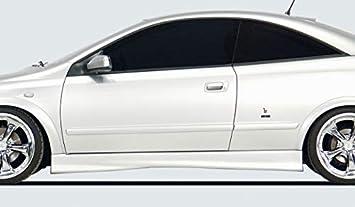 Rieger Potenciador de Lado Negro Mate para Opel Astra G