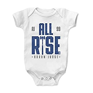 500 LEVEL Aaron Judge Baby Clothes, Onesie, Creeper, Bodysuit 3-6 Months White - New York Baseball Baby Clothes - Aaron Judge Rise B