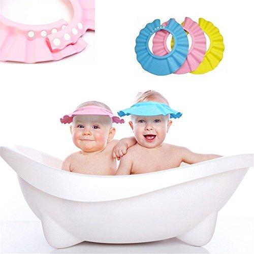 Doux bébé Kid Safe enfants Shampooing Bain Douche Protéger Chapeau laver les cheveux jaune Blindage