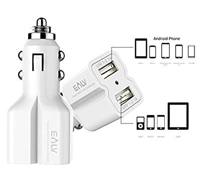 Car Charger, USB Car Charger, Dual USB Charger 4.2A (20W) Dual-Port Ultra Rapid USB Universal Car Charger for iPhone iPad Samsung Galaxy Apple Android Smartphone GOPROTablet