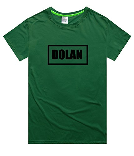 Adult Disco Dolly - saozi Dolan&Twins Logo Shirt Men's T-Shirts Customize Adult Pullover-Deepgreen&L
