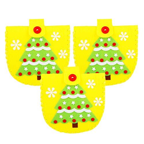 D DOLITY DIY ニードルフェルトキット クリスマス ギフトバッグ かわいい 全4種 - クリスマスツリーの商品画像