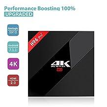 [Android 7.1 3GB+32GB] KUAK H96 PRO+ Android 7.1 TV BOX Amlogic S912 Octa Core CPU RAM 3GB ROM 32GB Bluetooth 4.1 Dual WiFi 2.4GHz 5.8GHz LAN 1000M H.265 4K Player