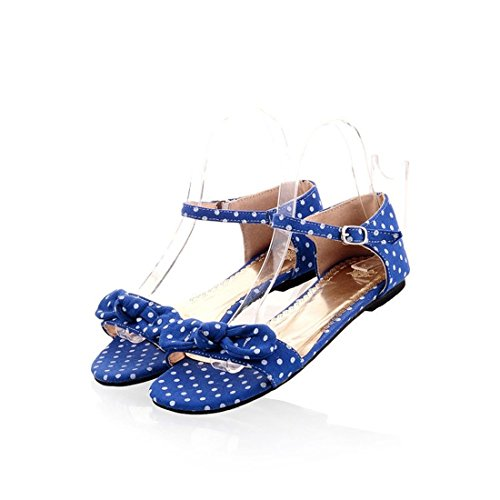 con Punto Rocío Planas de Verano de Mujer Pulsera Estudiante Sandalias para Mujer Blue de Sandalia Sandalias E8YqwBpB
