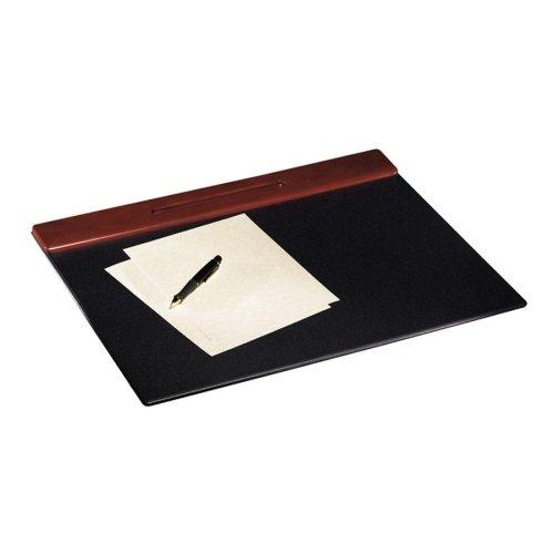 - Wood Tone Desk Pad, Mahogany, 24 x 19