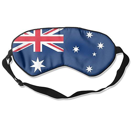Longnankejilifeaa Sleep Eyes Mask Covers Australia Flag Silk Sleeping Blindfold Design Adjustable Strap Eyeshade For Travelling Shift Work Night Noon Nap Yoga
