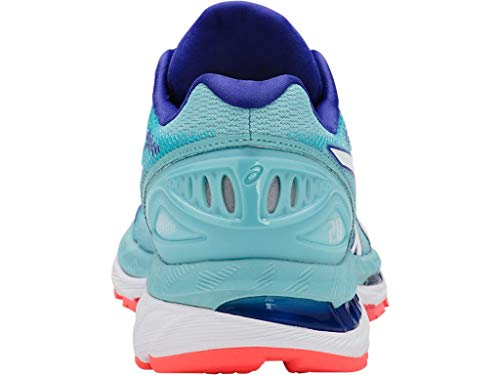 ASICS Women's Gel-Nimbus 20 Running Shoe, porcelain blue/white/asics blue, 5.5 Medium US by ASICS (Image #4)