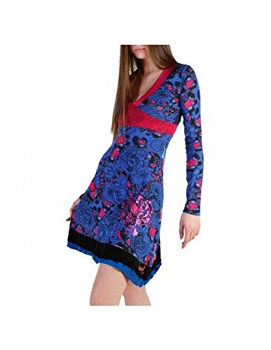 S 49V2221 Damen Blau Desigual Kleider v8WAq6aaX
