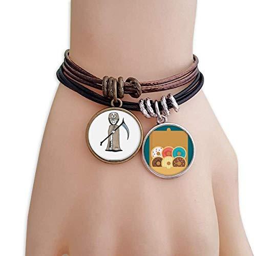 cold master DIY lab Egypt Mummy Halloween Death Horus Bracelet Rope Doughnut Wristband]()