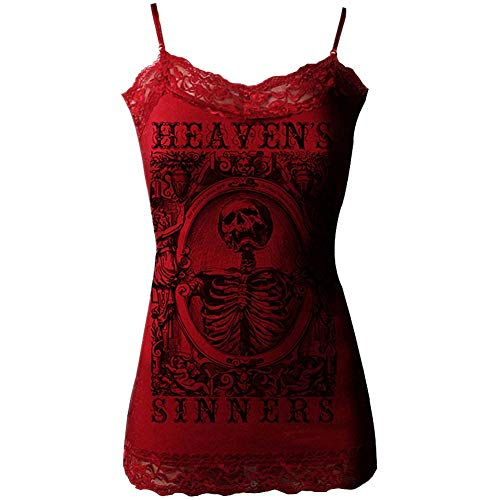Women's Se7en Deadly Heaven's Sinner Lace Cami Crimson S