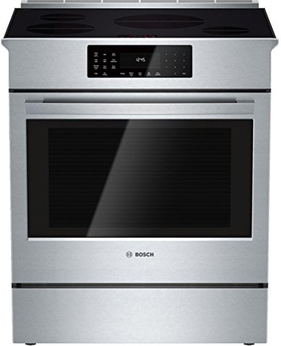 HII8055U 30 800 Series Induction Slide-In Range with 4 Cooktop Elements Induction Technology Warming Drawer SpeedBoost and Genuine European Convection in Stainless Steel