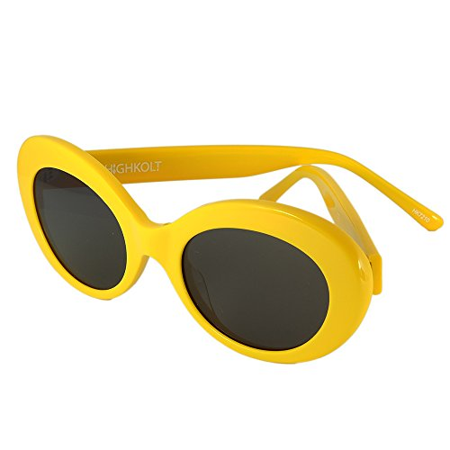 "HIGHKOLT ""Dara Darling"" Oval Sunglasses HK7210 (NYC Yellow - Nyc Affordable Sunglasses"