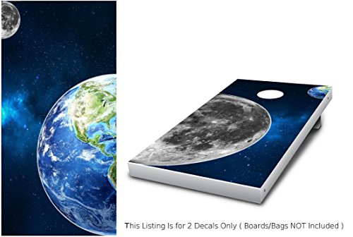 - Earth & Moon Cornhole Wrap set, 2 decals (24