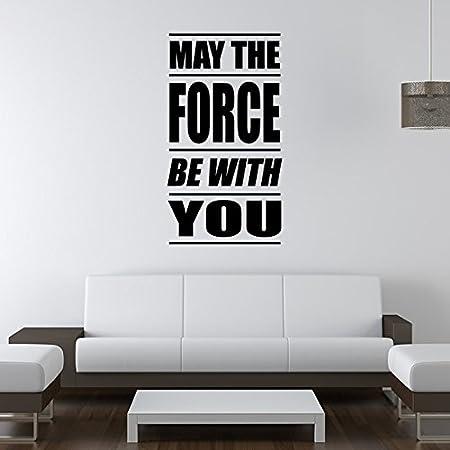 Que la fuerza te acompañe Etiqueta de la pared Star Wars Tatuajes ...