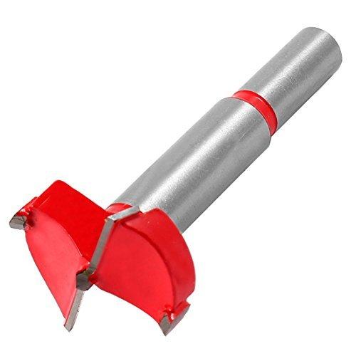 DealMux 32ミリメートルの直径のドリル超硬金属ヒンジボーリングビット、レッドシルバートーン  B06XVR9Q3C