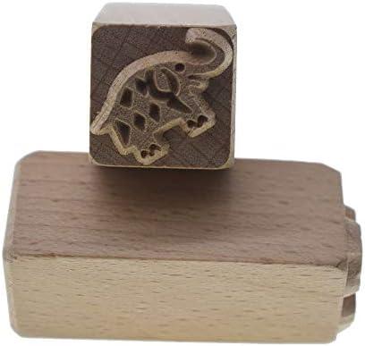 grastop 象 手彫り ウッド スタンプ 印刷 DIYクレイ 陶器 印刷 ブロック クレイ ツール 用