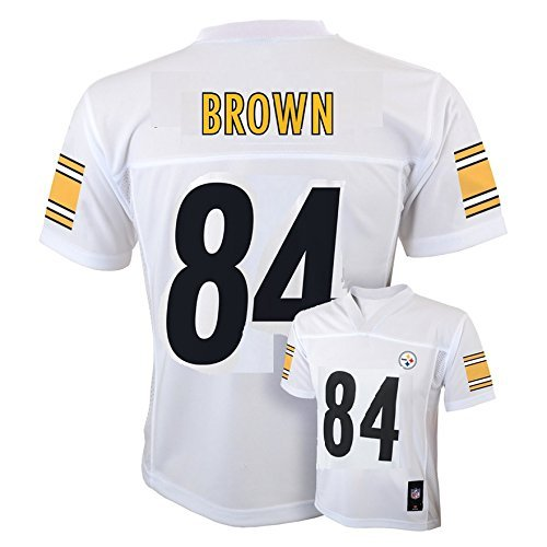 Antonio Brown Pittsburgh Steelers 84 NFL Youthミッドティアジャージーホワイト Youth Small 8  B075ZZ7P4D