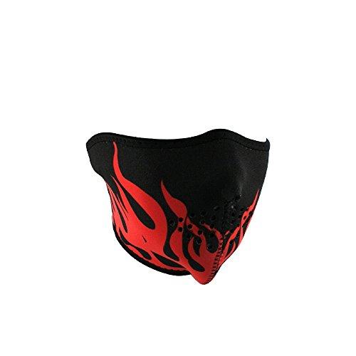 Zan Headgear WNFM229RH, Half Mask, Neoprene, Red Flames