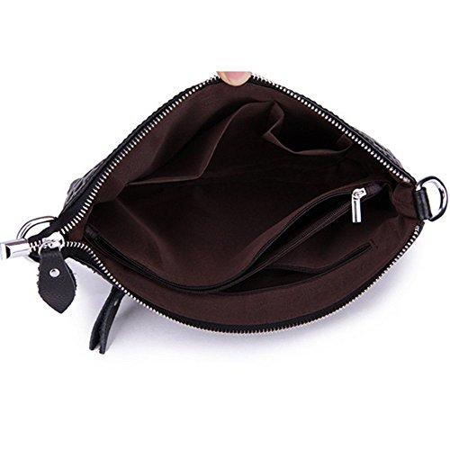 Eysee - Cartera de mano para mujer Negro marrón 28cm*18cm*2cm rosa (b)