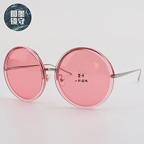 Face Large Color Polarizer Mujer Pink Gafas Transparentes Round De Male Vviiyj amarillo Box Sol Red 7q8BdqzR4