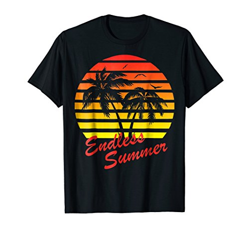 Endless Summer 80s Tropical Sunset T-Shirt by Tropical Shirts