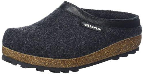 Giesswein Chiemsee Unisex Pantofola Grigio (019 Anthrazit)