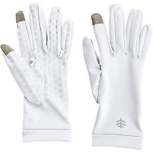 Coolibar UPF 50+ Men's Women's Gannett UV Gloves – Sun Protective