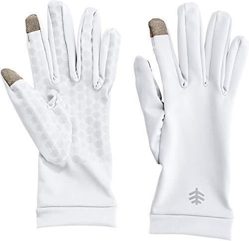 Coolibar UPF 50+ Men's Women's Gannett UV Gloves - Sun Protective (Medium- White) (The Best Oven Gloves)