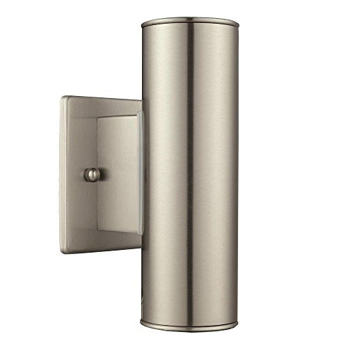 Eglo USA Riga 2-Light Stainless Steel Outdoor Integrated LED Wall Mount Light